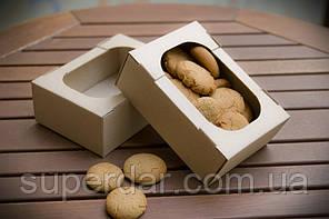 Міні-лоток кондитерський для печива, зефіру та тістечок, 160х110х55 мм, бурий) СД04-03