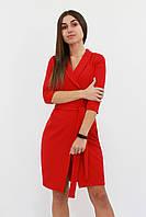 Коктейльное платье на запах Alisa, красный