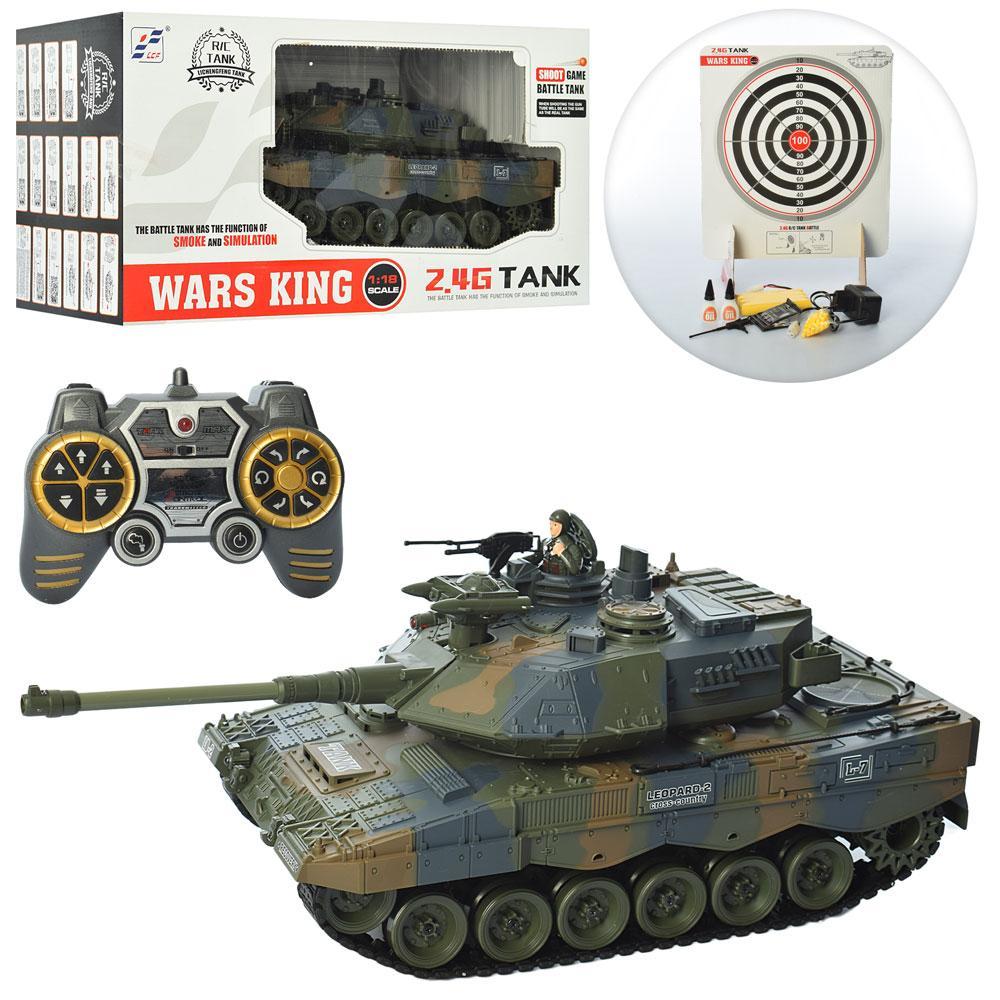 Радіокерований танк Shantou Wars King 789-4, стріляє і пускає дим