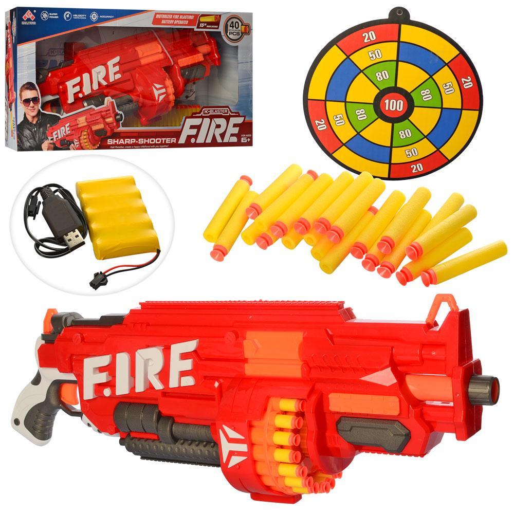 Игрушечный бластер Fire SB 486, с мишенью и мягкими пулями