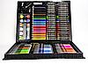Художественный набор для творчества 150 предметов детский в удобном чемодане + подарок раскраска, фото 5