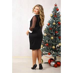 Женское платье Марни чёрно-белое размер 48-70  / большого размера, фото 2