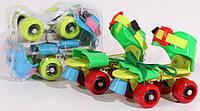 Ролики раздвижные для детей размер 15.5-21см Profi MS 0053G (Зелёные), фото 1