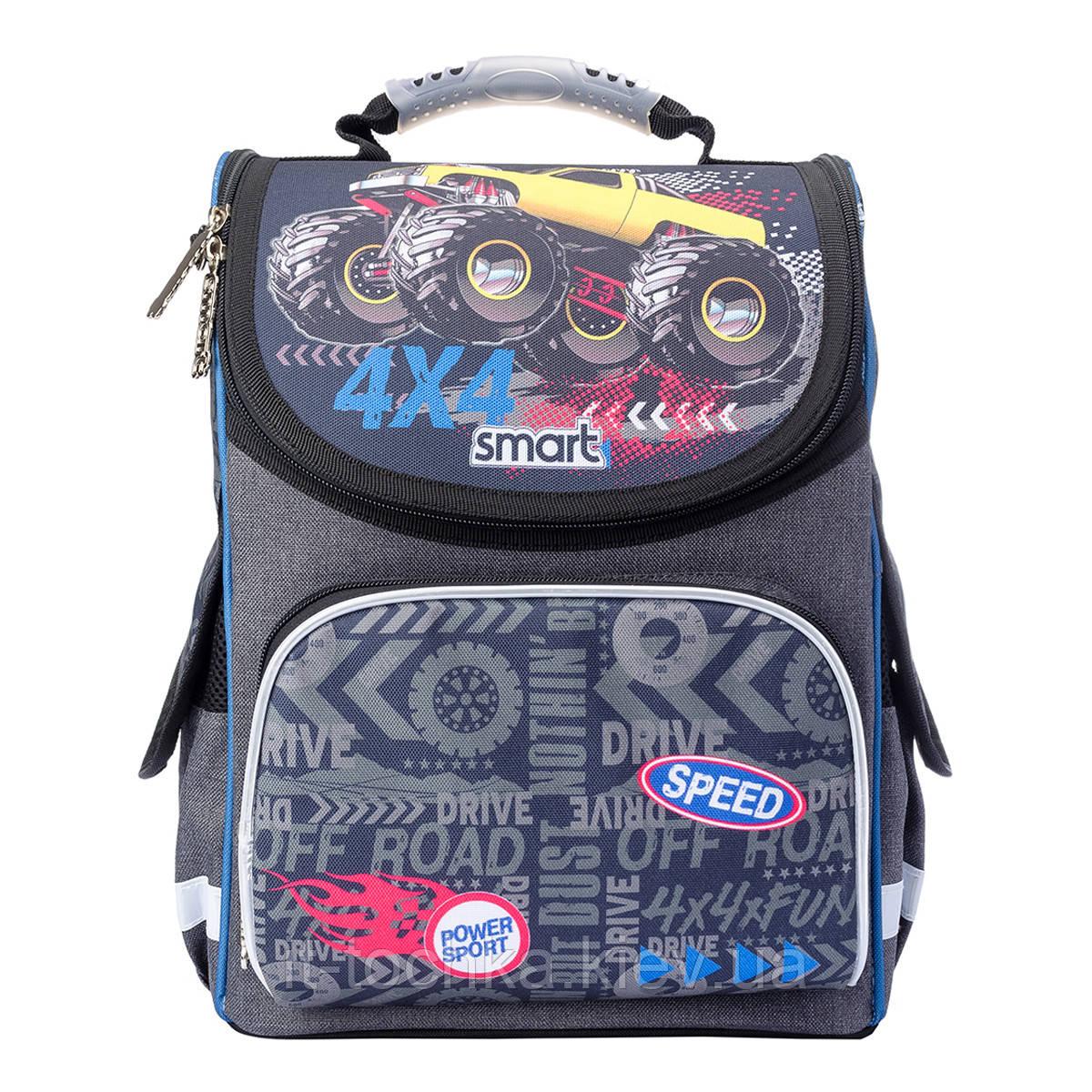 Рюкзак школьный, каркасный pg-11 speed 4*4 smart 557941