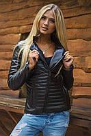 Короткая стеганная женская куртка разные цвета