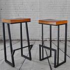 Барные металлические стулья для кафе, фото 7