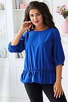 Женская блузка с оборками батал, фото 1