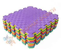 Детский коврик-пазл EVAPLAST SPORT 12 комплект 6 шт. 141х95 см