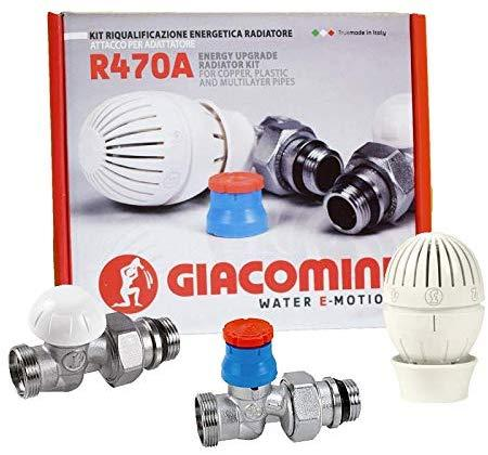 Купить Кран термостатический прямой 470А 1/2 Giacomini комплект