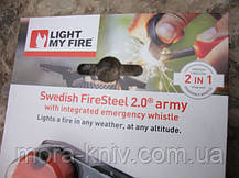 Огниво с кресалом FireSteel Army 2.0 Orange 11103610 , фото 2