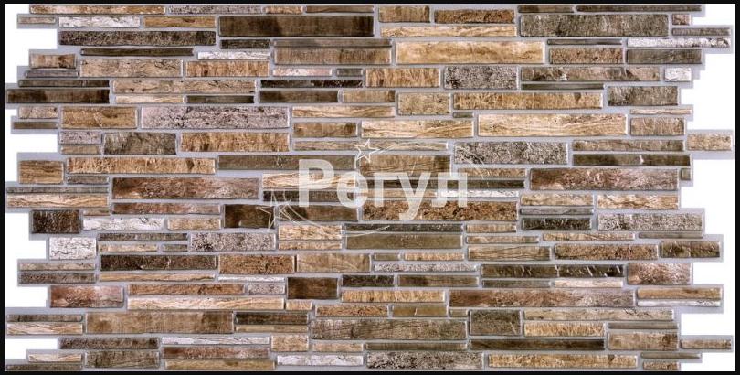 Листовая панель ПВХ на стену Регул, Камень (Пластушка Коричневая)