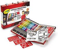 Набор для детского творчества в чемодане для мальчиков Крайола 62 предмета Crayola Virtual Design Pro-Cars Set