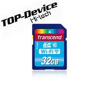 Карта памяти Transcend WI-FI SD SDHC Class 10 32GB (TS32GWSDHC10)