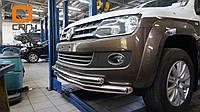 Защита переднего бампера (двойная) для Volkswagen Amarok