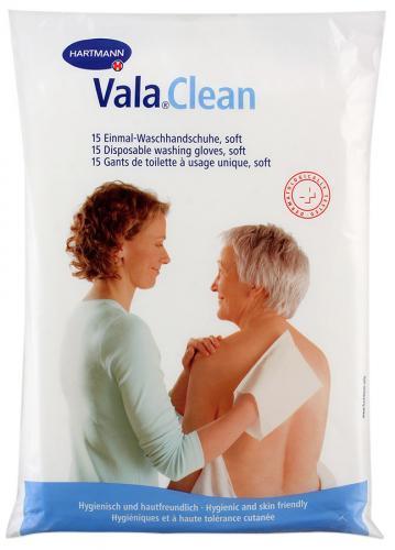 Одноразові рукавички для миття Vala®Clean soft, 15 шт./уп.
