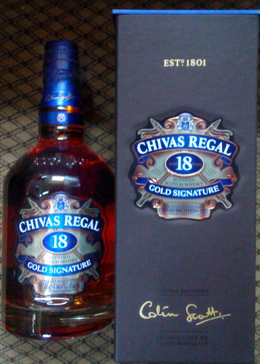 Шотландский виски Чивас 18 летней выдержки 0,7л
