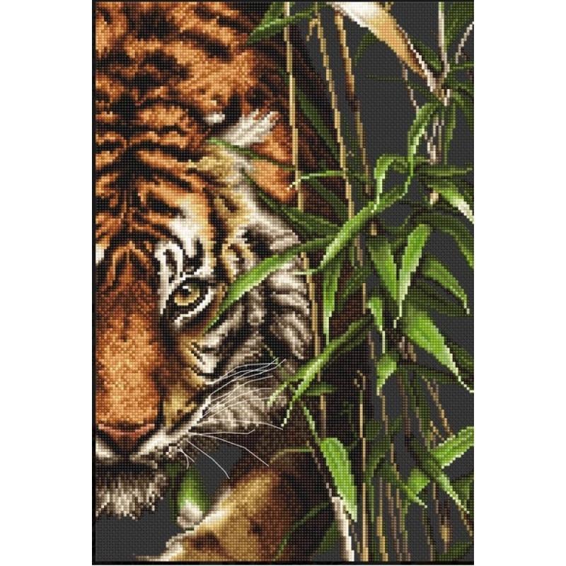 Набор для вышивания нитками Luca-S Животные Птицы Тигр