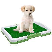 Туалет для собак Puppy Potty Pad 47х34х6 лоток для щенков горшок трава, фото 1