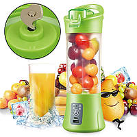 Фитнес-блендер Smart Juice Cup Fruits QL-602 Портативный миксер, шейкер с USB, фото 1