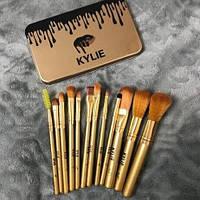 Набор кистей Kylie 12шт для макияжа Кайли кисточки в контейнере, фото 1