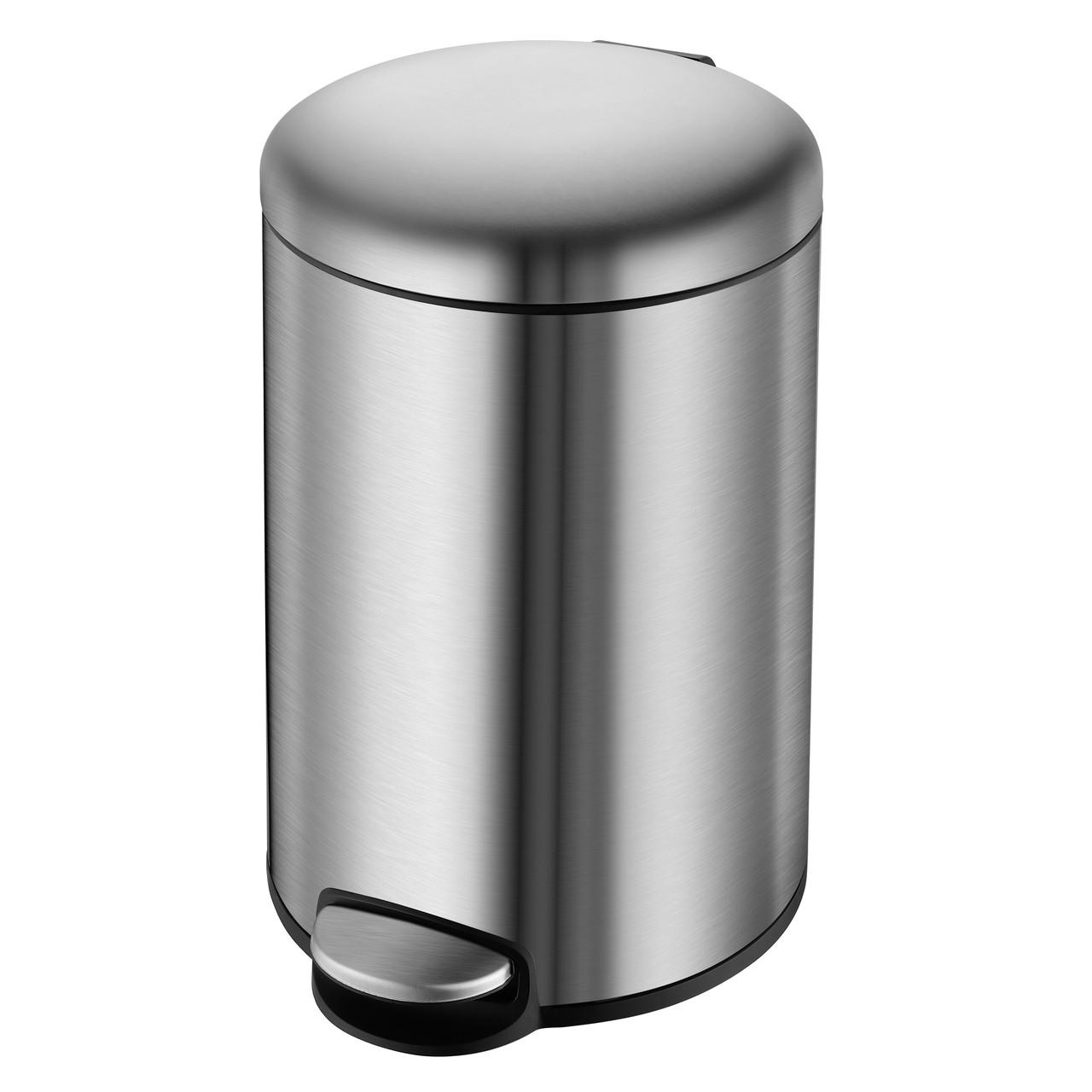Відро для сміття з педаллю VOLLE 14-05-53ST 5 л матова сталь