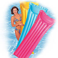 Пляжный Надувной Матрас с Подголовником Intex 59703, 183 Х 69 См, фото 1