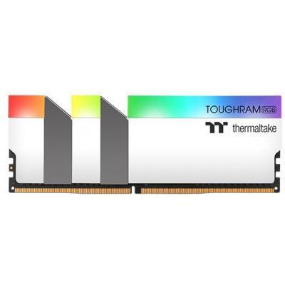 Модуль памяти для компьютера DDR4 16GB (2x8GB) 3200 MHz Toughram White RGB ThermalTake (R022D408GX2-3200C16A)