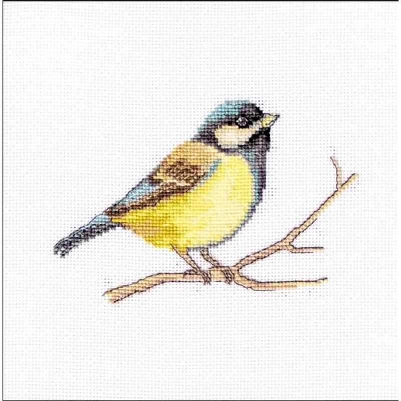 Набор для вышивания нитками Luca-S Животные Птицы Большая синица