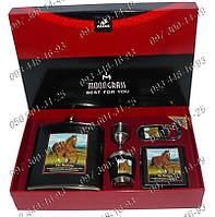"""Подарочный набор """"The Mustang"""" №2077 Фляга+стопка+открывашка+портсигар Оригинальный подарок Необычные идеи"""