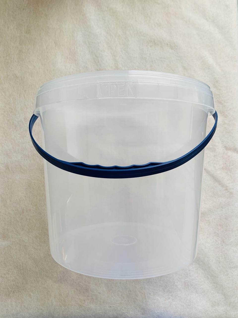 Ведро пищевое пластиковое с крышкой 10 литров