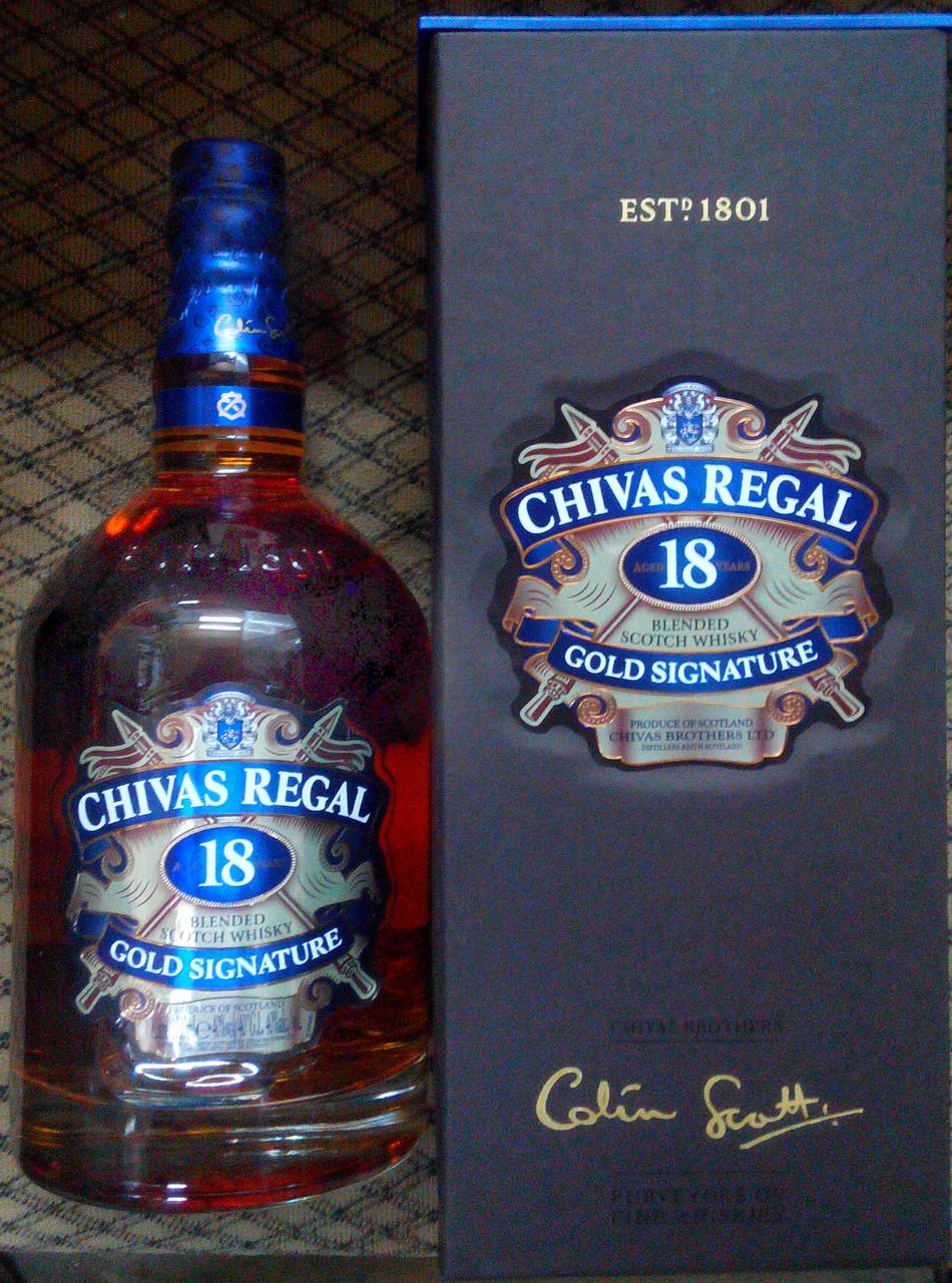 Шотландский виски Чивас 18 лет 1л в подарочной упаковке.