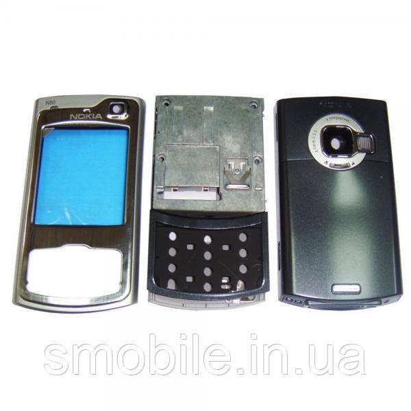 Nokia Корпус Nokia N80 серебристый, в комплекте слайдер