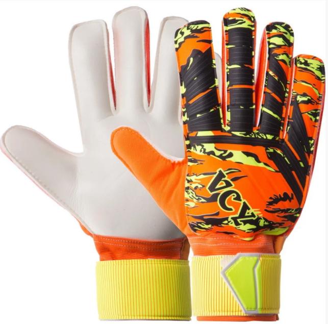 Перчатки вратарские юниорские FB931B VCY р-7 с защитными вставками, оранжевый