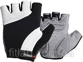 Велоперчатки PowerPlay 5041 Черно-белые M