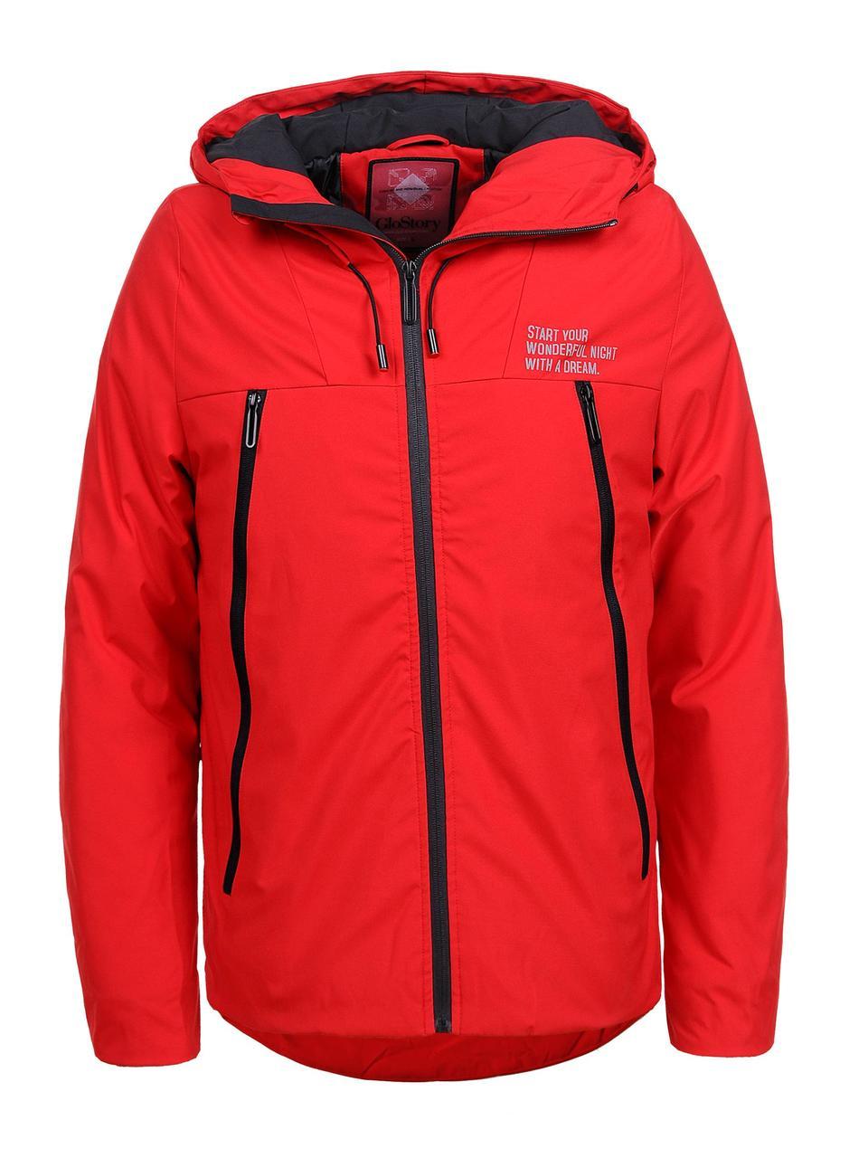 Демісезонна куртка  для хлопчика  червона  Glo-Story 134/140
