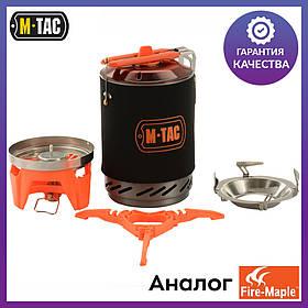 Система приготовления пищи M-Tac аналог горелка газовая с котелком для еды Fire-Maple FMS-X2 (MTC-DM-S2CS)