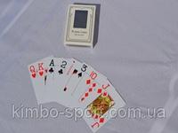 Карты для игры в спортивный покер, пластиковые, матовые.