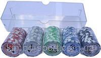 Фишки покерные в наборе 100 шт. на 4 цвета. В комплекте 100 фишек.