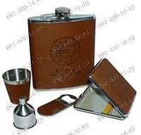 Подарочный набор №2077 Фляга+стопка+открывашка+пепельница Оригинальный подарок Необычные идеи подарка