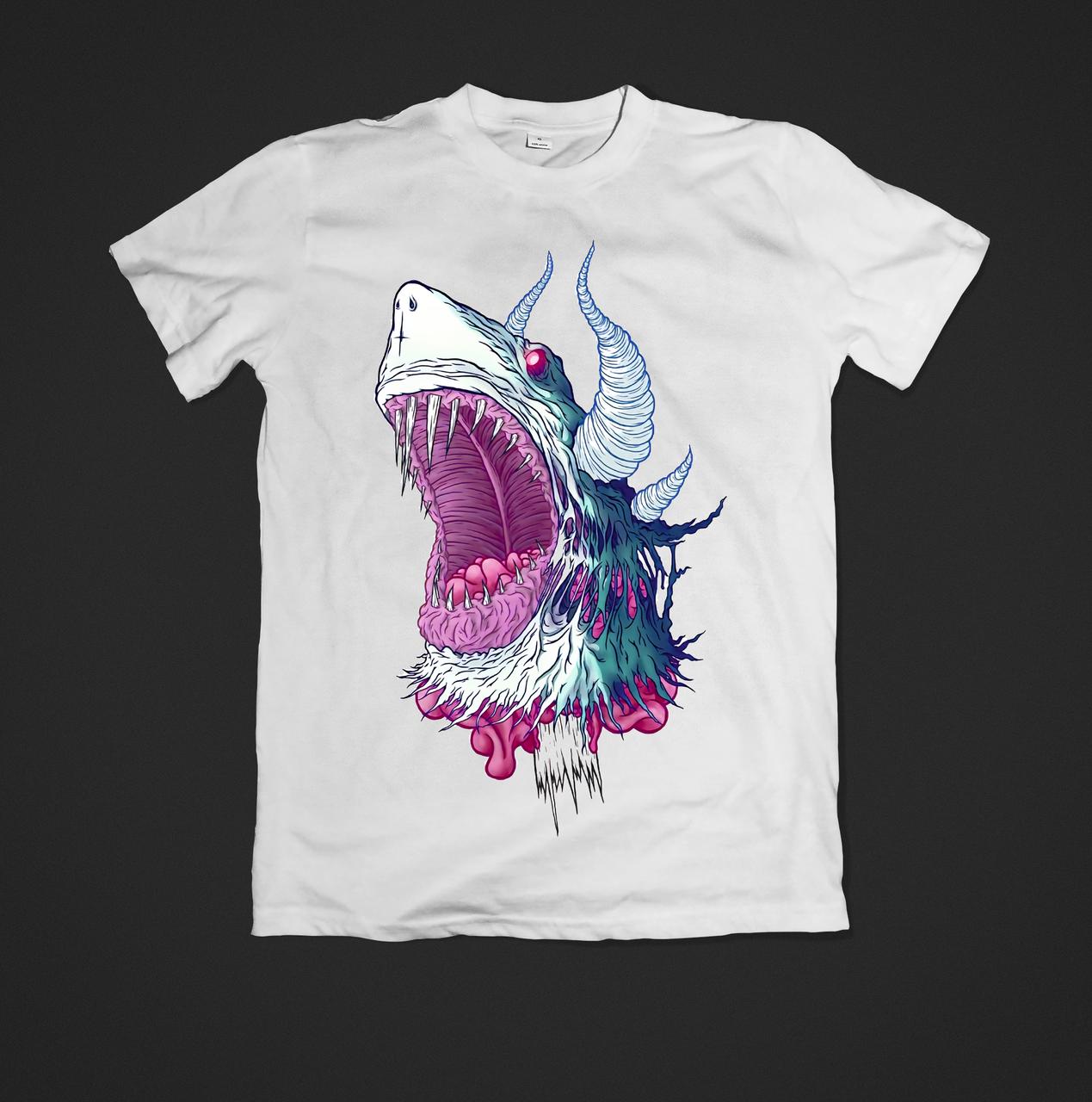Футболка YOUstyle для мужчин shark  0499 XL White