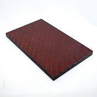 Накладки Микарта карбон № 93632 Твил красный 8,2х80х130 мм
