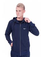 Спортивная кофта (олимпийка) Nike  (44-50)  S - XL  Темно-синий