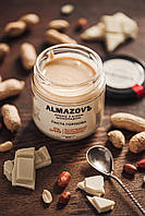 Паста с арахисом и белым шоколадом 0% сахара, TM ALMAZOVЪ, 200 гр