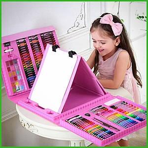 """Набор для детского творчества в чемодане из 208 предметов """"Чемодан творчества"""" Розовый"""