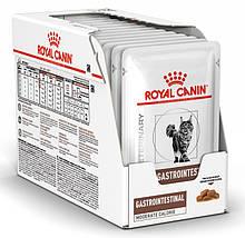 Лечебный влажный корм для кошек Royal Canin Gastro Intestinal Moderate Calorie блок 85 г*12 шт.