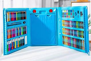 """Набір для дитячої творчості у валізі з 208 предметів """"Чемодан творчості"""" Блакитний, фото 2"""