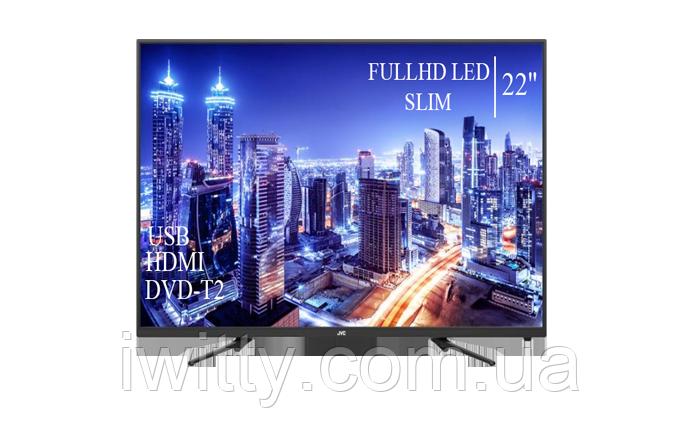 "Телевизор JVC 22"" СМАРТ приставка в ПОДАРОК FullHD+DVB-T2+USB (1080р)"