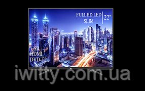 "Телевизор JVC 22"" СМАРТ приставка в ПОДАРОК FullHD+DVB-T2+USB (1080р), фото 3"