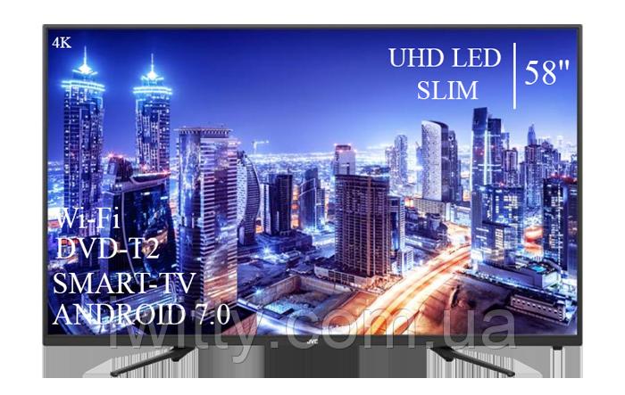 "Телевизор JVC 58"" Smart-TV+DVB-T2+USB Android 7.0 4К/UHD"