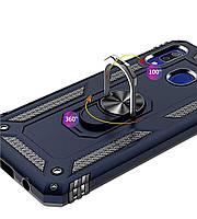 Samsung Galaxy A20 / A30 (30913) Темно-синий чехол на самсунг а20 а30, фото 4
